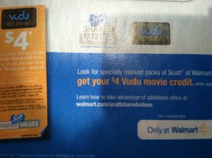 VuDu flier in Sunday's Paper