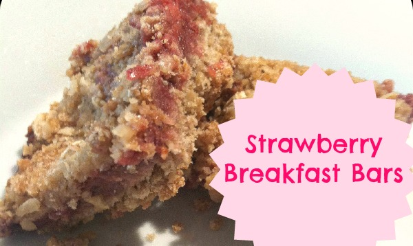 Grab and Go Strawberry Oatmeal Breakfast Bars make a great breakfast for your kids!