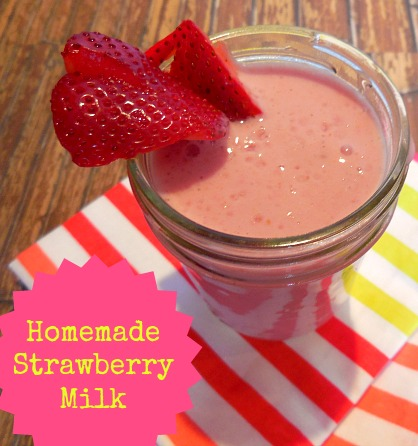 Why buy Strawberry Milk mixes when you can make your own Homemade Strawberry Milk?