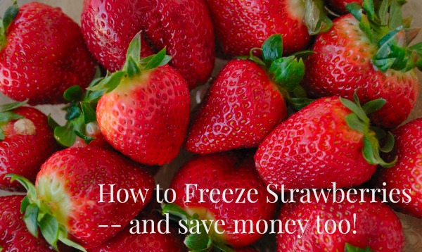 How to Freeze Strawberries and save money too!