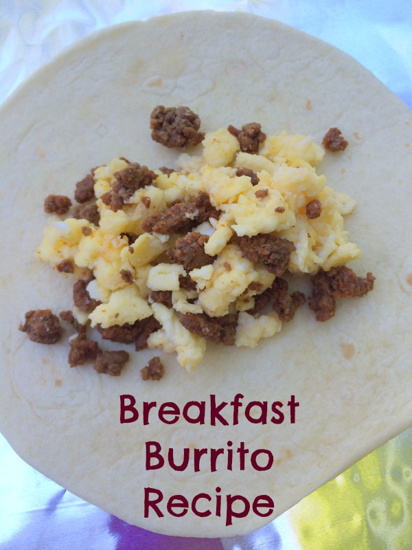 Breakfast Burrito recipe--great way to use up leftovers!