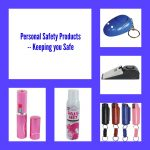Personal safety products collage
