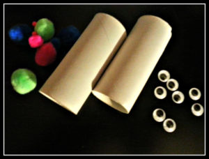 Make Halloween Monsters with some easy supplies including Toilet Paper rolls!