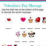 Valentine's Day Secret Message Worksheet