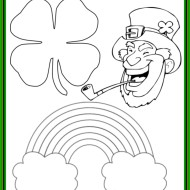 st pattys day coloring page megan