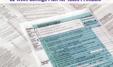 52 Week Savings Plan For Taxes Printable