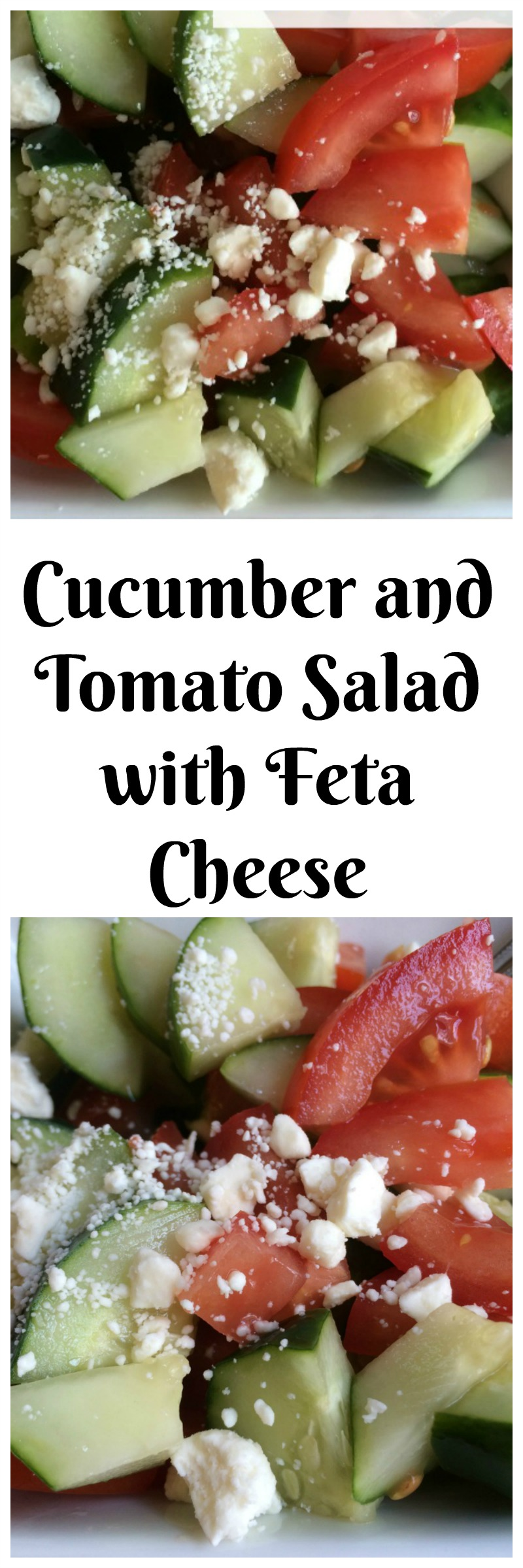 Cucumber and Tomato Salad Recipe--the perfect warm weather side dish or easy lunch! It is cool and refreshing and requires no cooking and it is oh, so good!