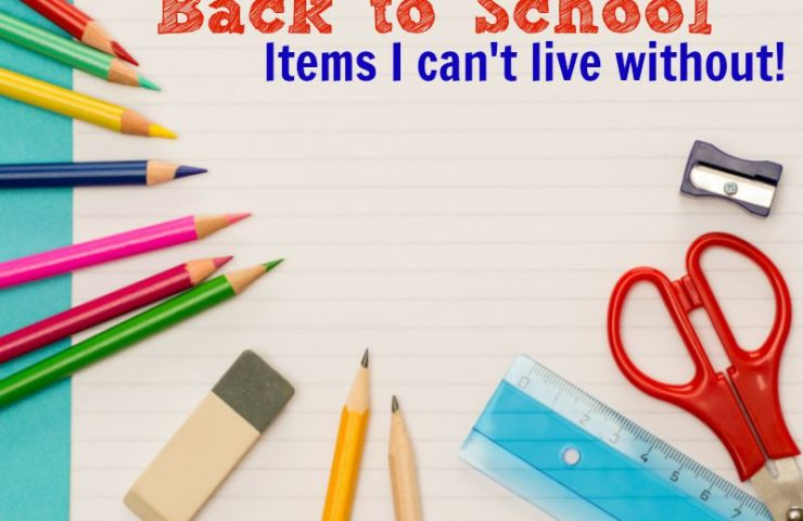 Back to School Items I can't live without!