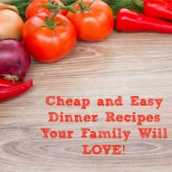 Cheap and Easy Dinner Recipes your family will love!