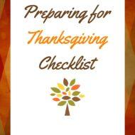 Preparing For Thanksgiving Checklist