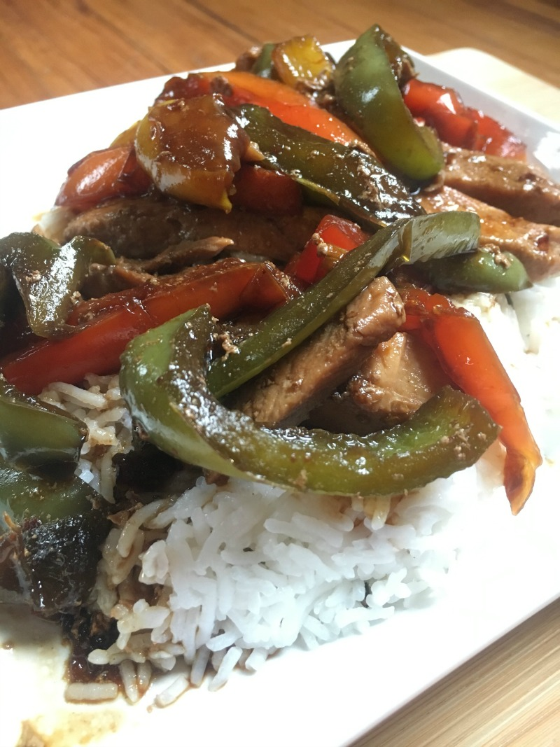 Chicken and Pepper Stirfry #ad #VeeteeDineIn