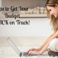 Get Your Budget Back on Track