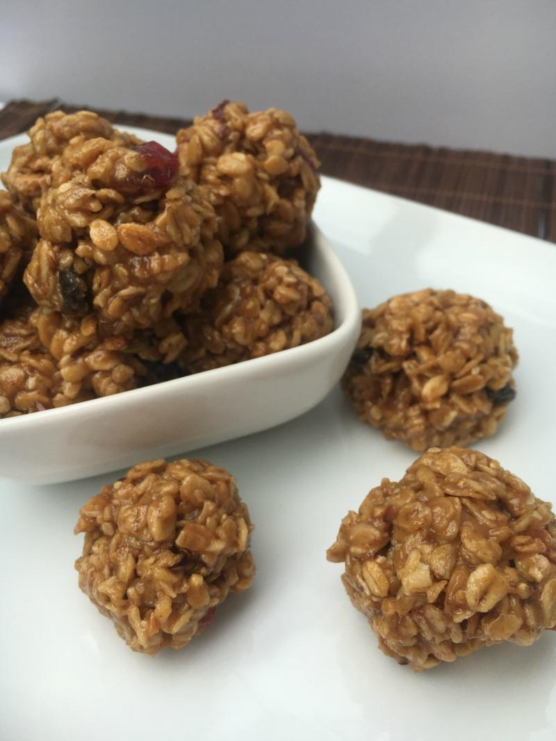 Peanut Butter Granola Bites #ad