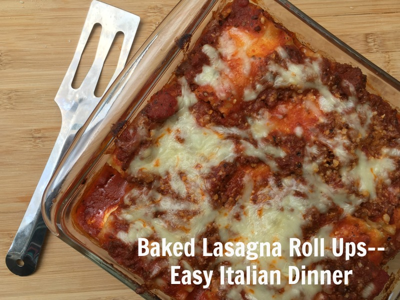 Baked Lasaga Roll Ups--Easy Italian Dinner perfect for back to school. Make sure to make extra for the freezer! #CampbellSavings