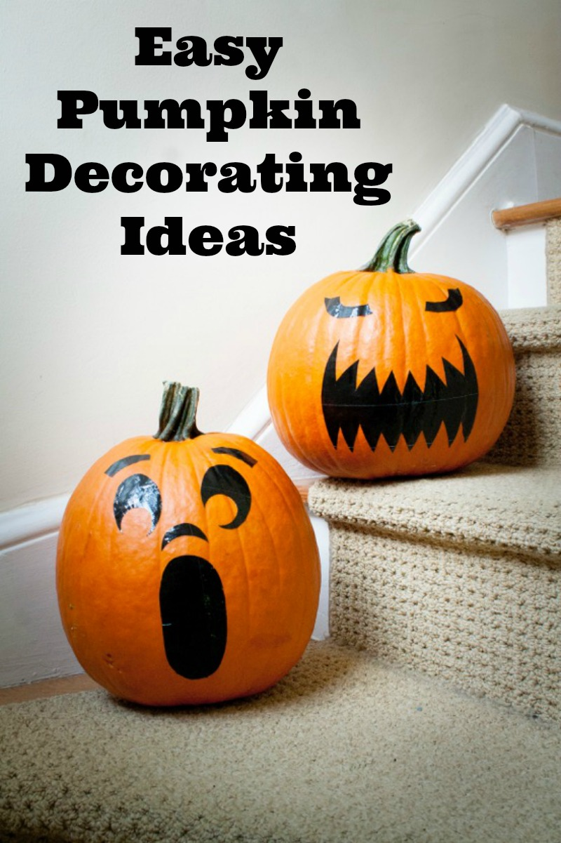 Easy pumpkin decorating ideas 28 images 10 simple no for Simple pumpkin centerpieces