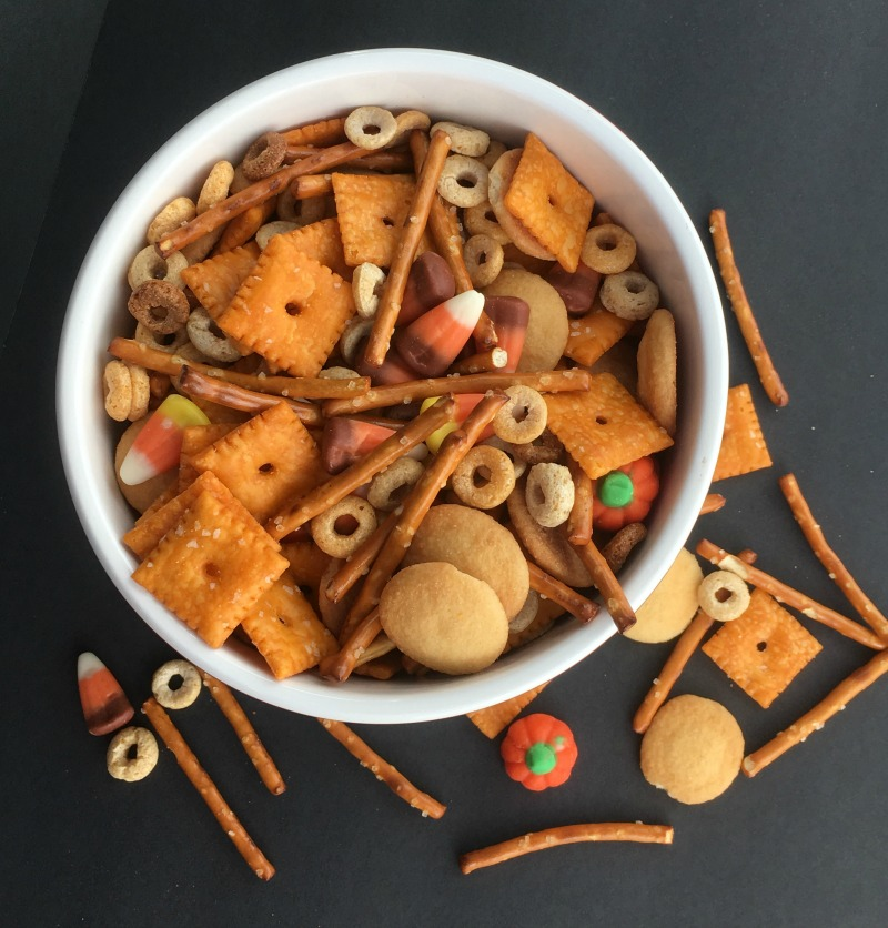 Salty Snack Recipes For Kids Halloween Harvest Hash Chex Mix