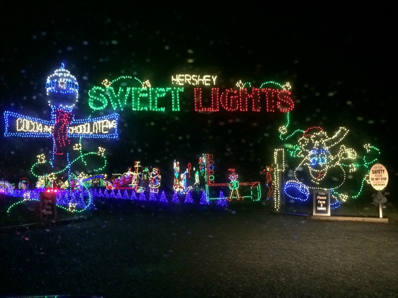 Make sure to leave time to visit Sweet Lights! Millions of lights, Christmas carols on the radio and fun family times are all part of the holiday magic at Christmas in Hershey! #Sweetestmoms #ad