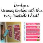 Develop a morning routine: Printable Chart