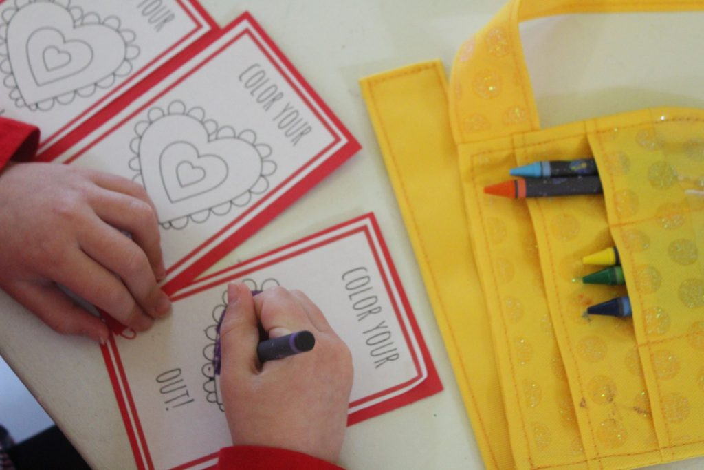 Color Your Own Valentine Printables allow your children to express their unique creative side and personalize their creations for their friends! #ad
