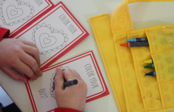 Color Your Own Valentine Printables