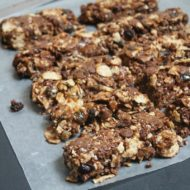 Homemade Chocolate Peanut Butter Granola Bars