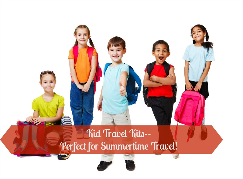 Kids Travel Kits--Perfect for summertime travel! Be ready for wherever the road takes you with these easy to assemble Kids Travel Kids--perfect for keeping the kids occupied on the go!