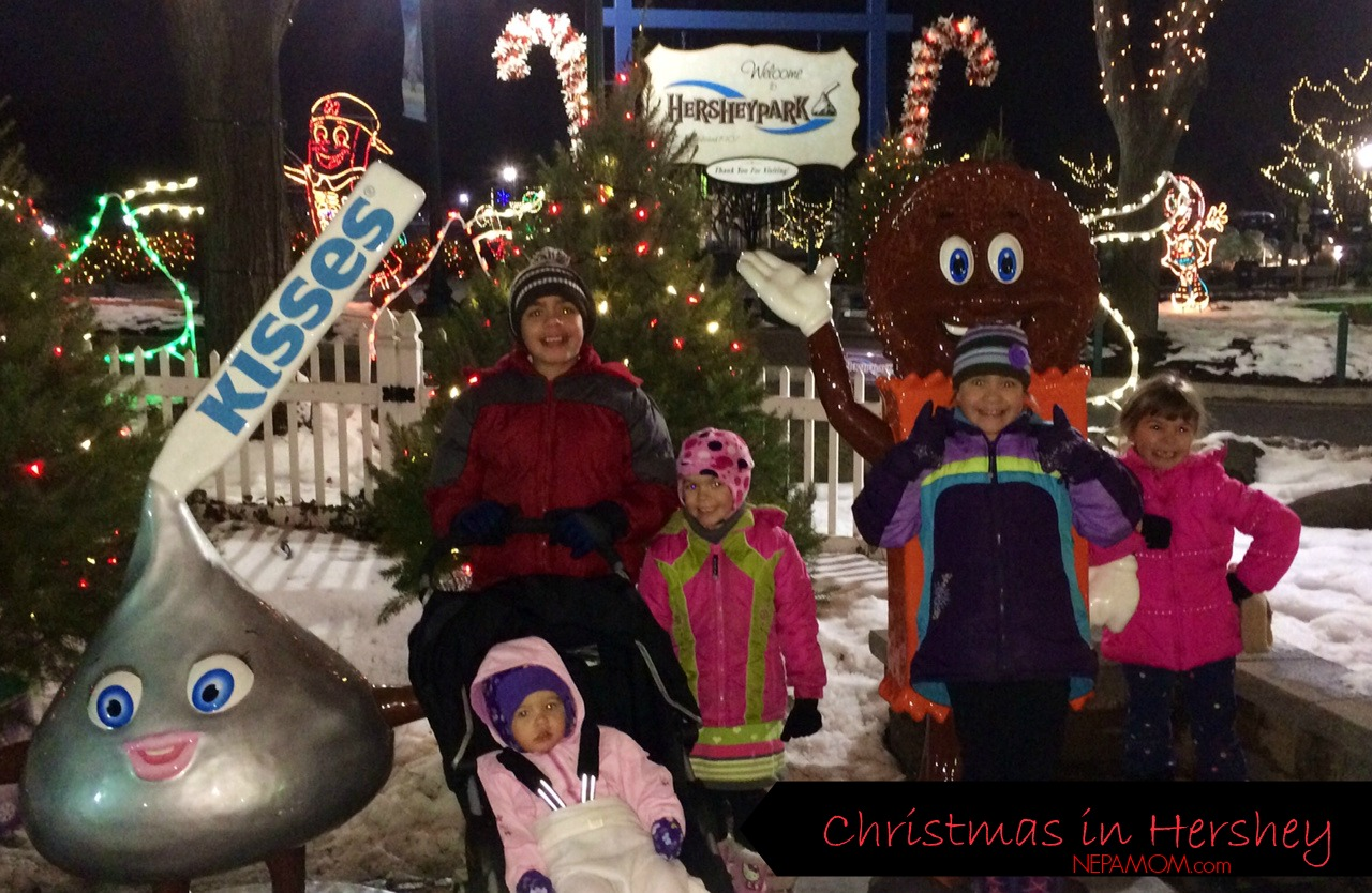 christmas family picture ideas with lights - Our Hershey Park Christmas Visit NEPA Mom