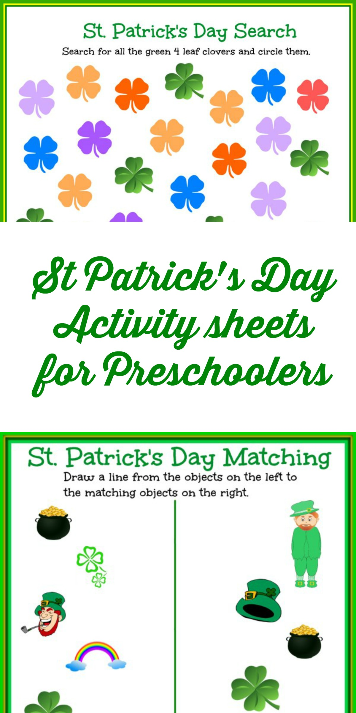 st patrick u0027s day activity sheets