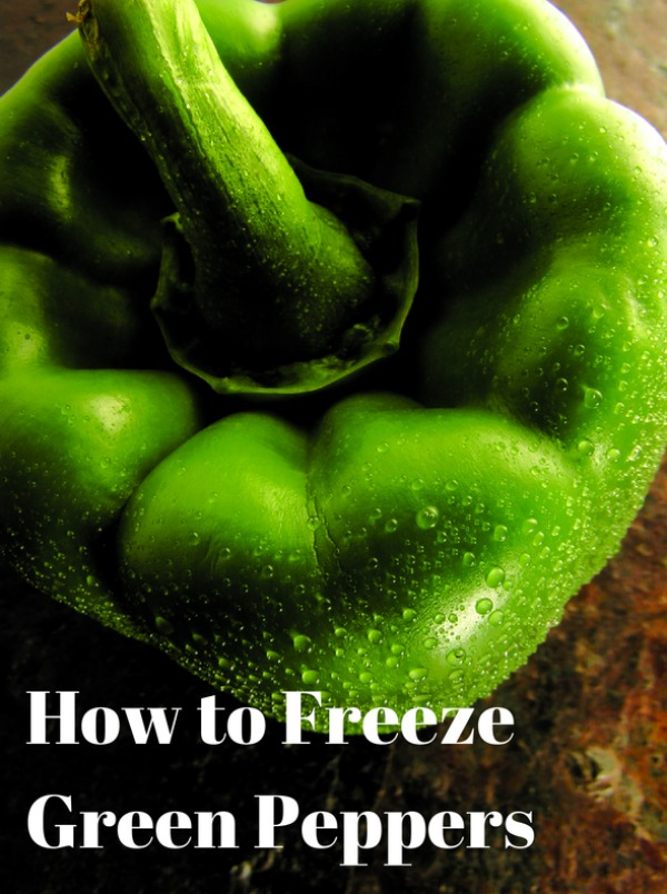 How to Freeze Green Peppers