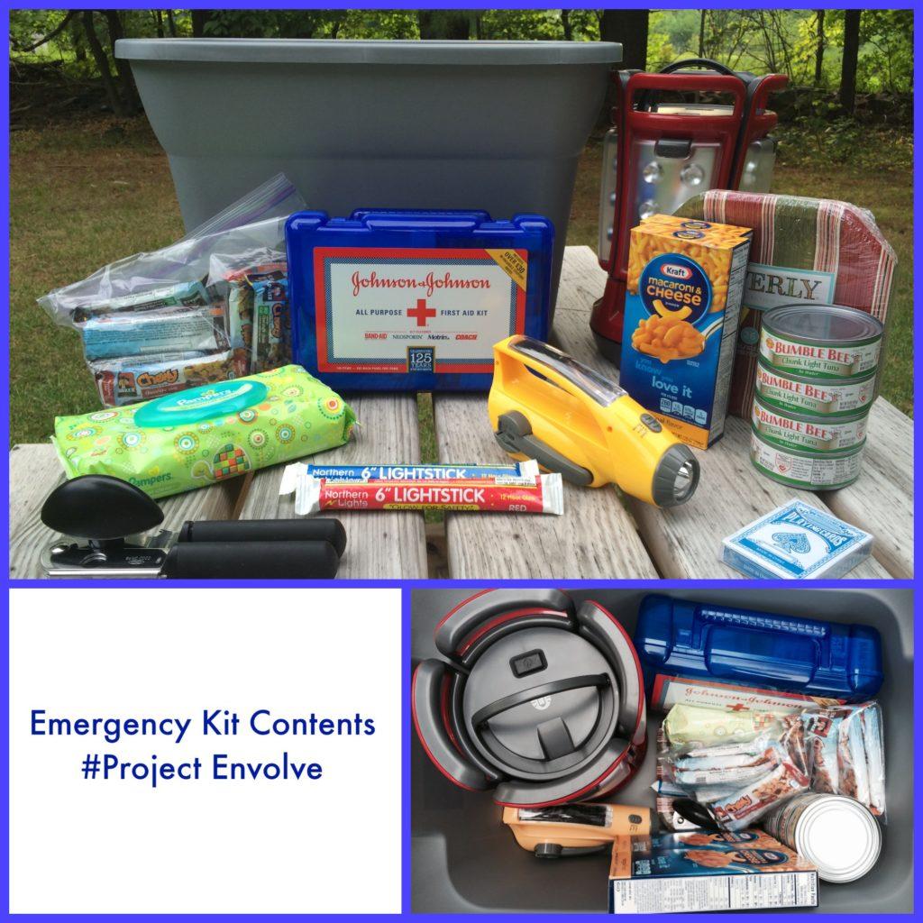 Emergency Kit Contents #ProjectEnvolve