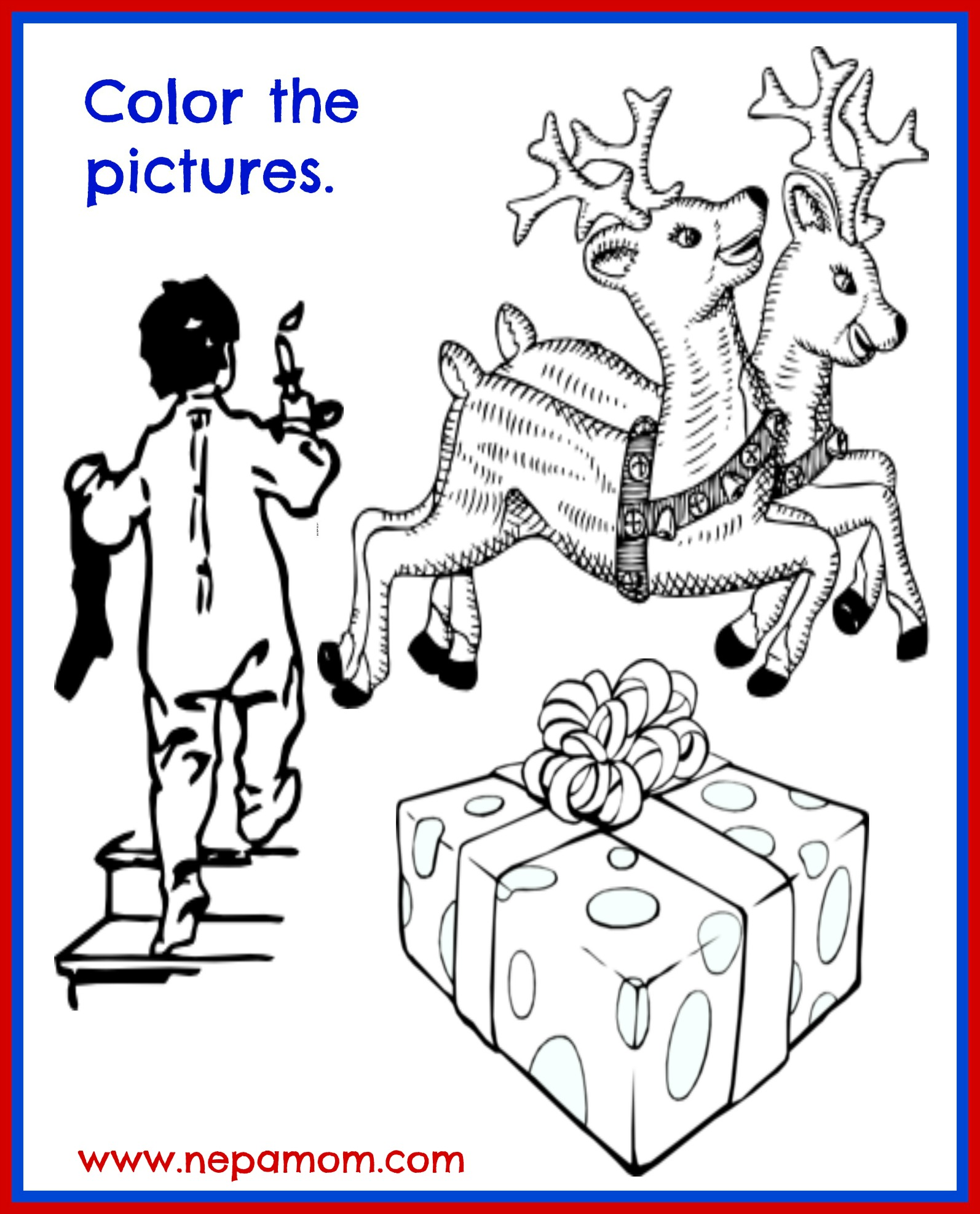 merry christmas coloring pages - Merry Christmas Coloring Pictures