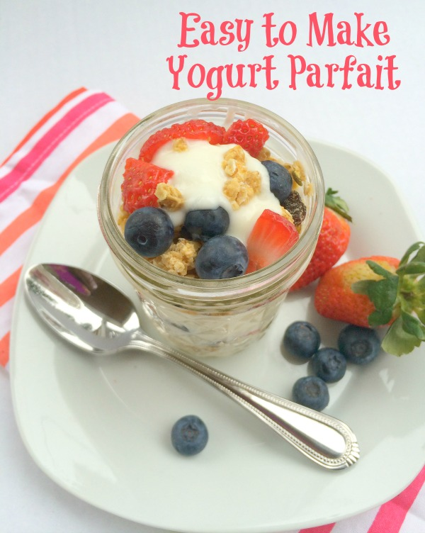 This Easy to Make Yogurt Parfait is a very satisfying breakfast with its creamy yogurt, fresh fruit and granola crunch--yum!