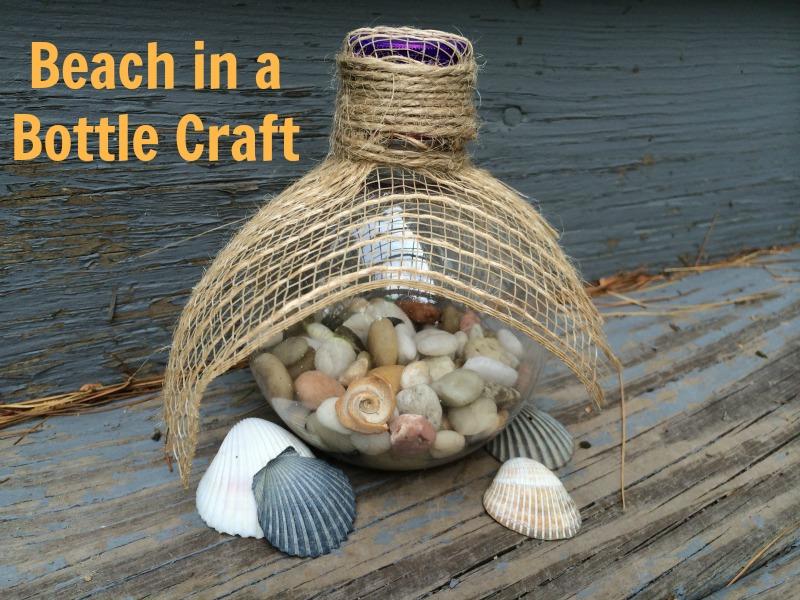 Beach in a Bottle craft--#KeepTheFun #ad