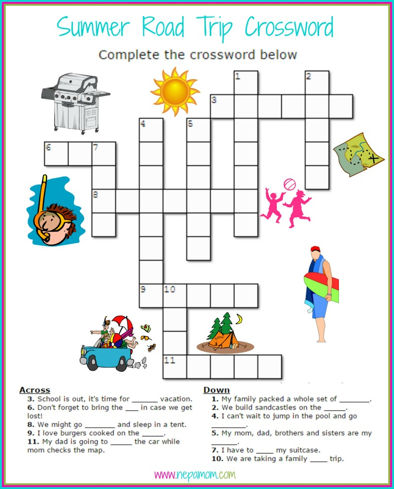 Comprehensive image with regard to summer crossword puzzle printable