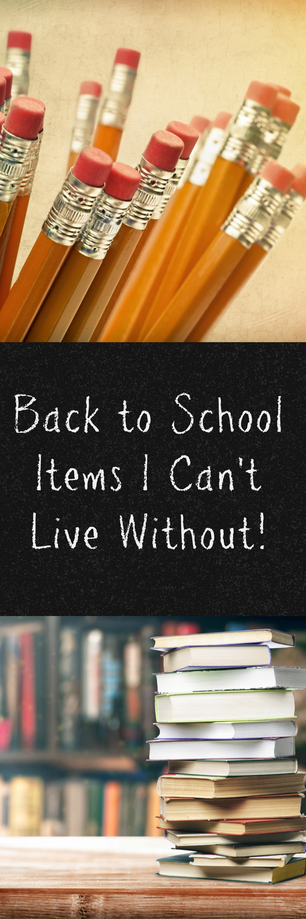 Back to School Items I can't Live Without!  Back to school time will be here before you know it, check out my list of items I can't live without!