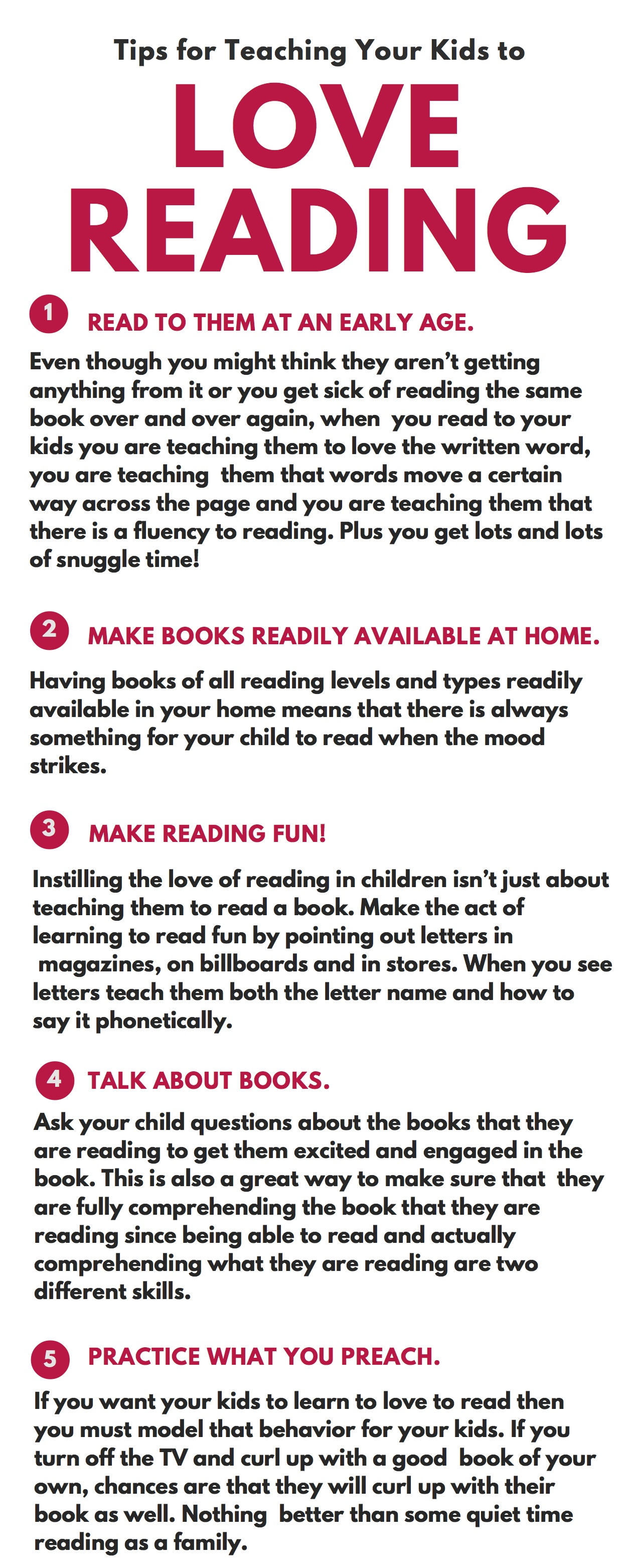 Different ways to make love - Tips For Teaching Your Kids To Love Reading Back2schoolready Ad