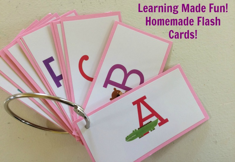 Learning Made Fun! Homemade Flash Cards