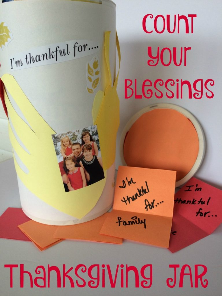 Make this easy Count Your Blessings Jar with your kids, it's a great way to keep the holiday emphasis on being thankful.