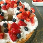 Angel Food Cake With Yogurt Cream