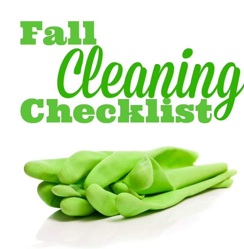 Fall Cleaning Checklist--now is the perfect time to clean your house and get ready for the holiday season!