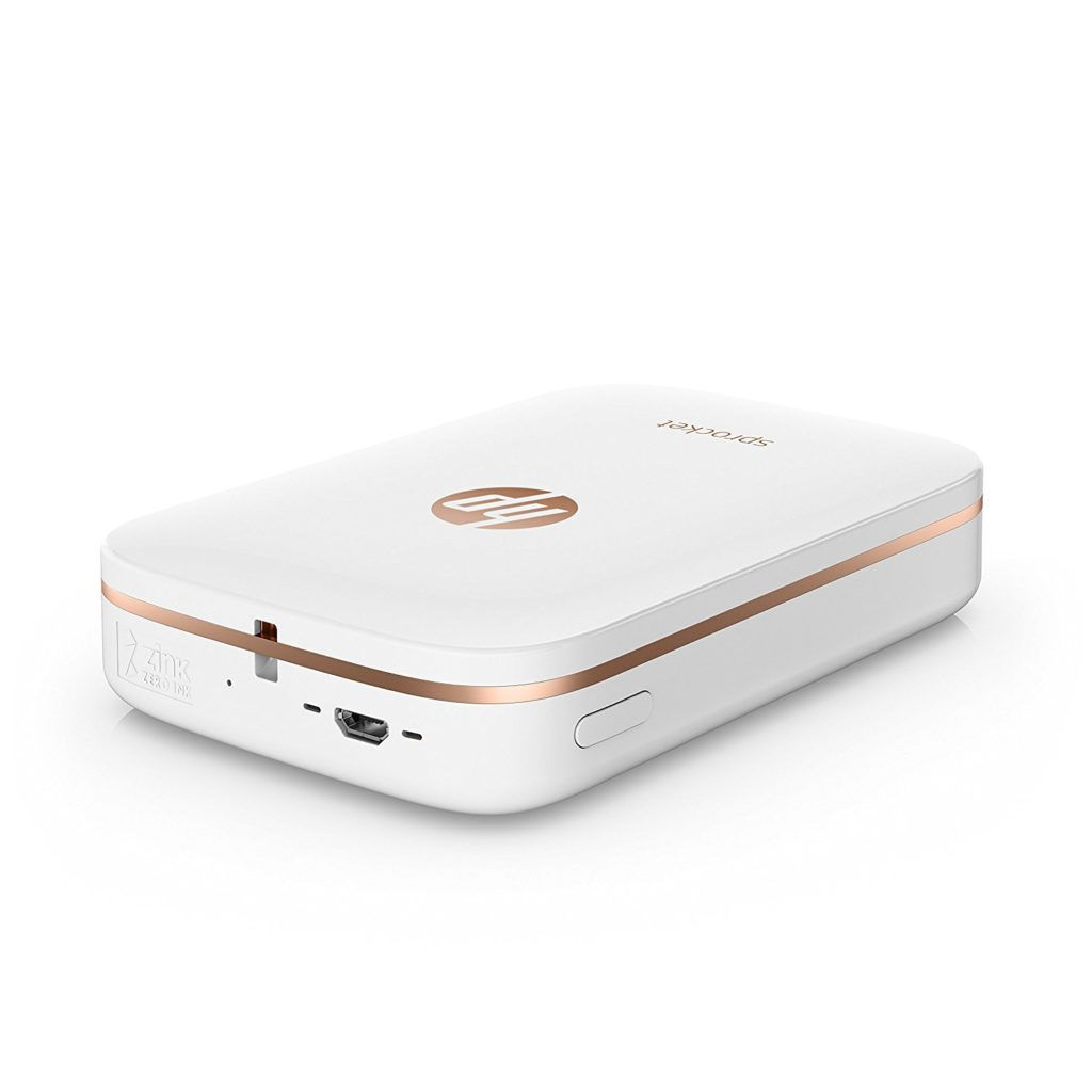 """The HP Sprocket Smartphone Printer makes it easy to capture your favorite moments. This perfectly portable printer lets you print fun 2 x 3"""" (5 x 7.6 cm) stickable photos from your smartphone, just as easily as posting them."""