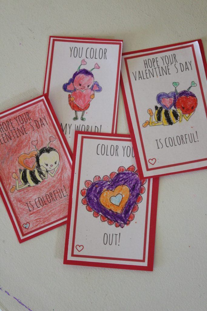 Color Your Own Valentine's are a great way to unleash your child's creativity! #ad