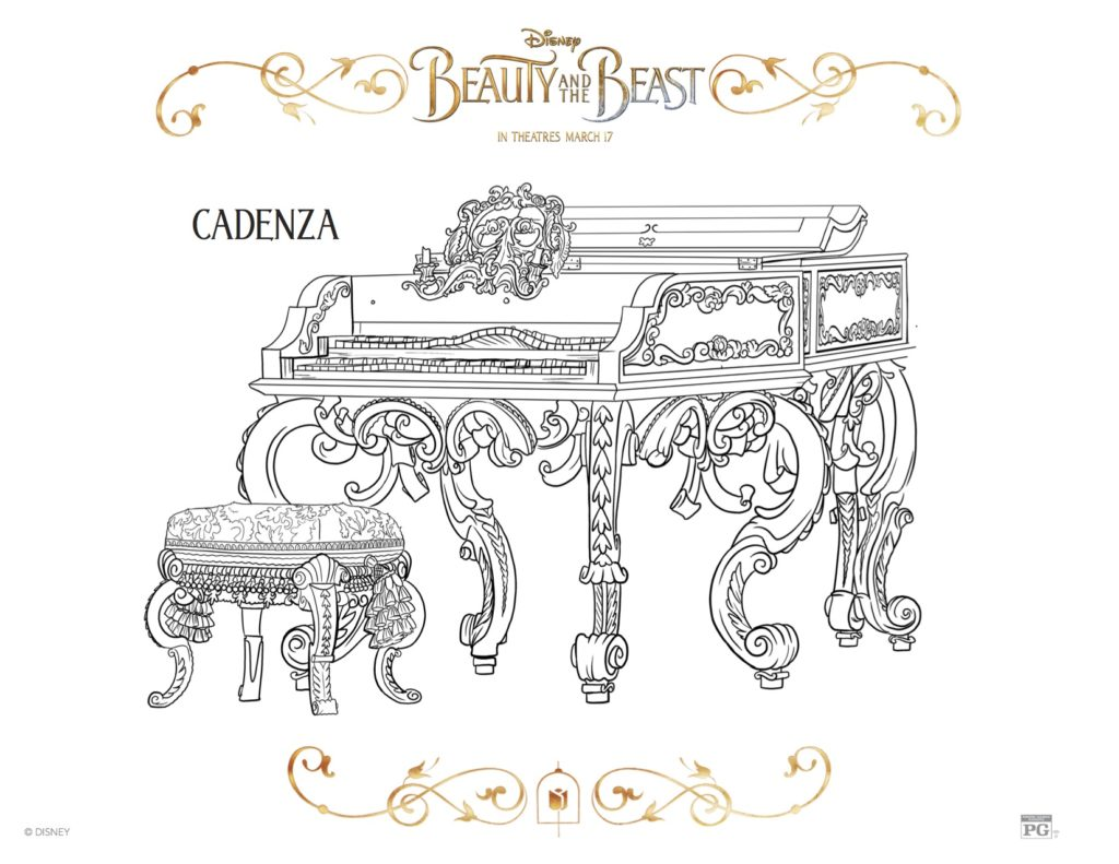 Beauty and the Beast Cadenza Coloring Sheet