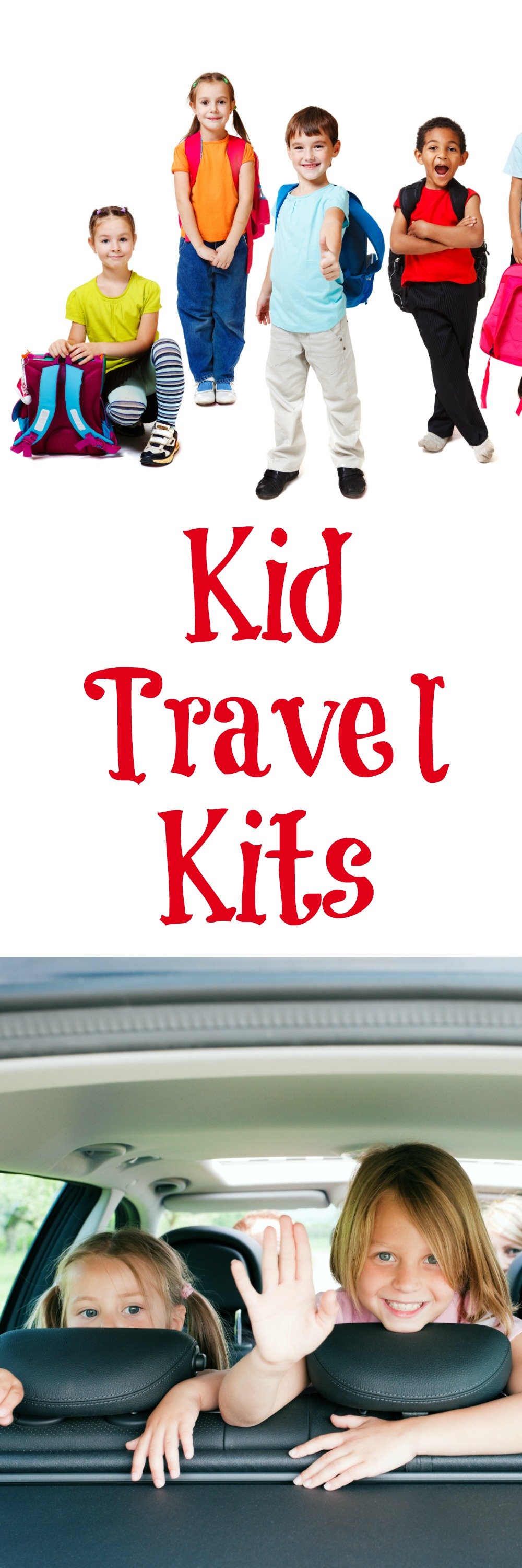 Kid Travel Kits--Planning on hitting the road this summer? Make sure to pack some Kid Travel Kits to make the trip easier!