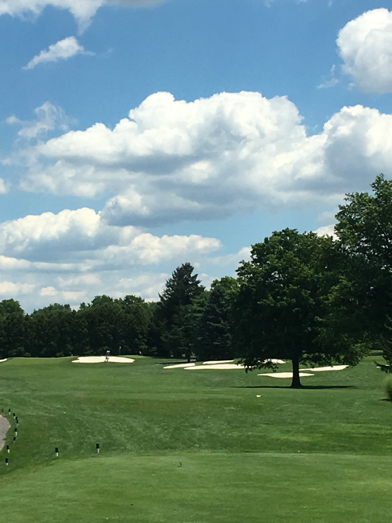 Golfing at the Hershey County Club is just one of the many perks of staying at a Hershey Resort in Hershey PA. #SweetestMoms