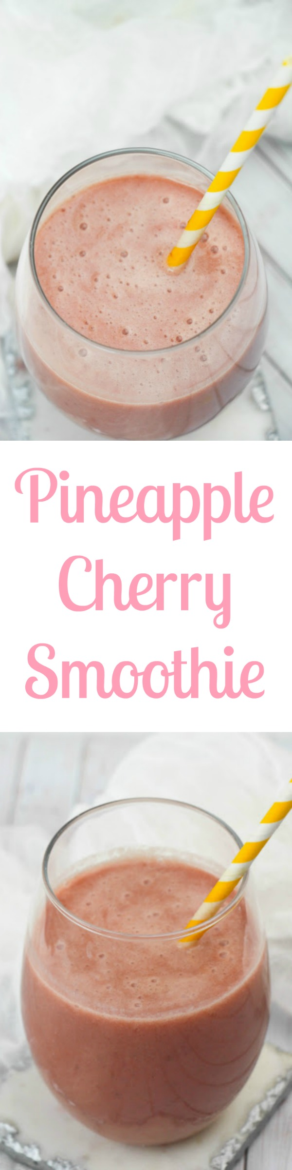 Pineapple Cherry Smoothies taste great and are a healthy snack too! #Easy #Recipes #MealPlan