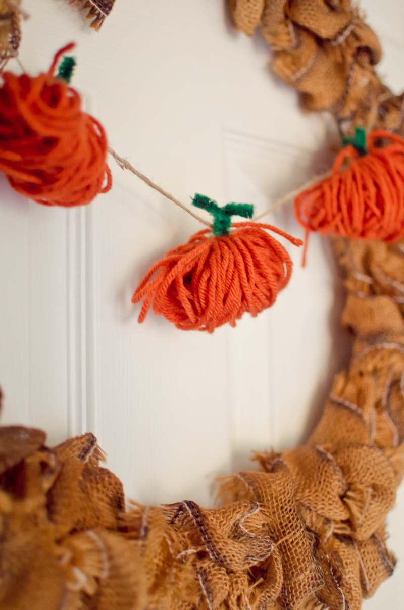 These Simple Yarn pumpkins do double duty as both a Halloween Decoration and a Thanksgiving decoration so you can leave them up throughout Fall. I love decorations like that!