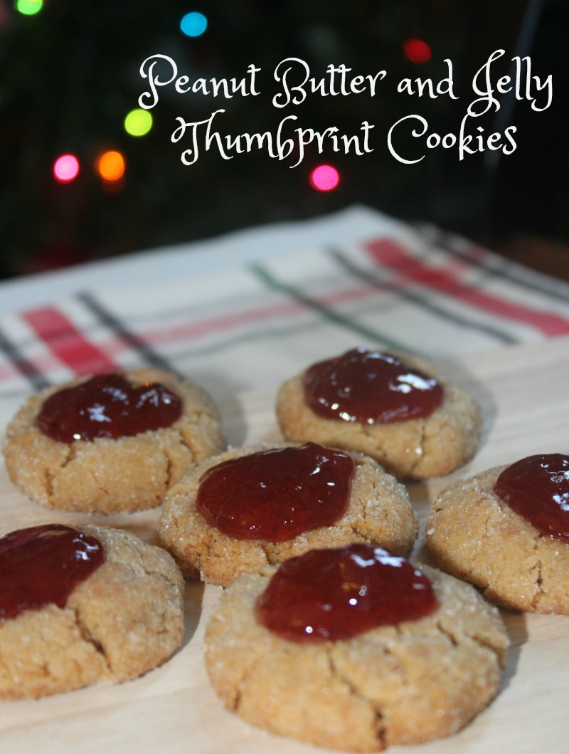 Peanut Butter and Jelly Thumbprint Cookies are an easy holiday treat!